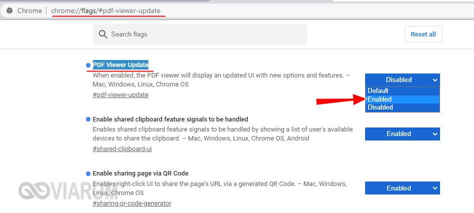 Опция PDF Viewer Update
