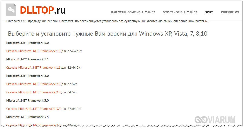 Как скачать NET Framework с сайта dlltop.ru