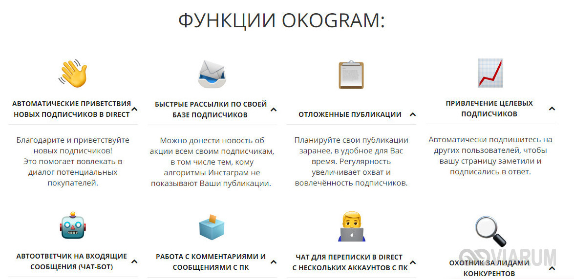 Сервис Okogram
