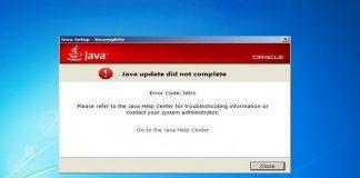 Error code 1603 при установке Java – что делать?
