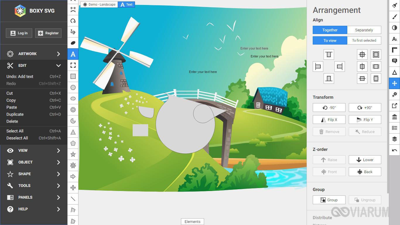 Просмотр файла SVG в редакторе Boxy SVG
