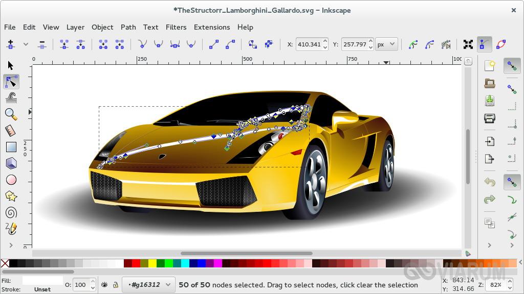 Как открыть формат SVG в редакторе Inkscape