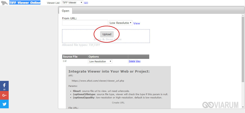 Веб-сервис TIFF Viewer Online