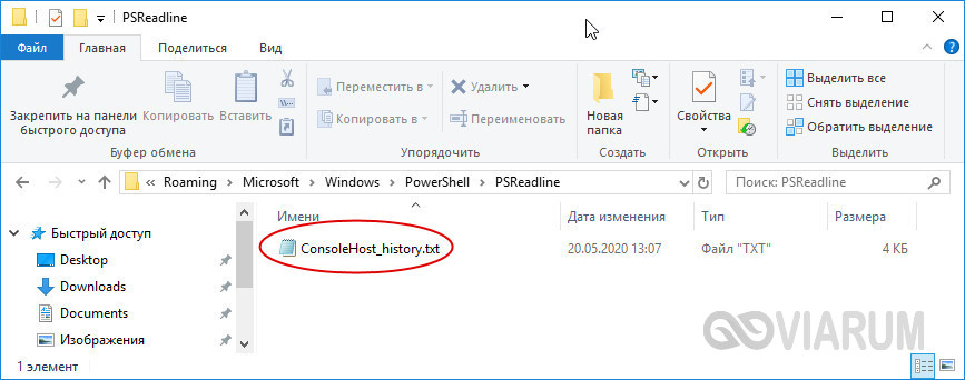 Файл ConsoleHost_history