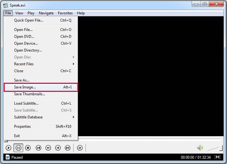Сохранение снимков экрана в проигрывателе Media Player Classic