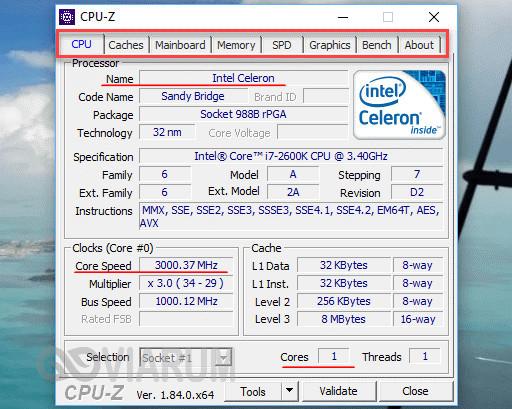 Утилита CPU-Z