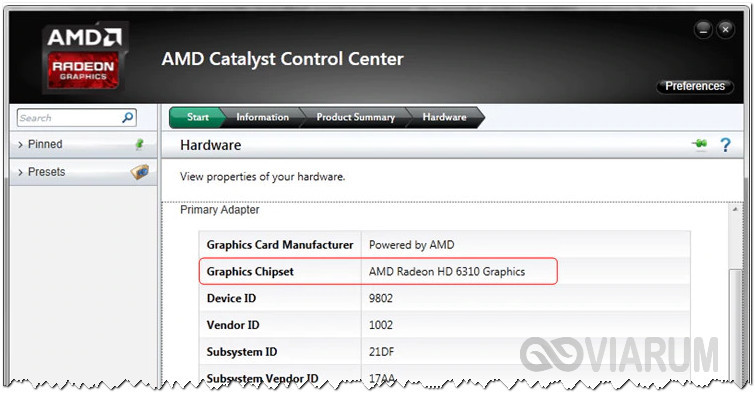 AMD Catalyst Control Center