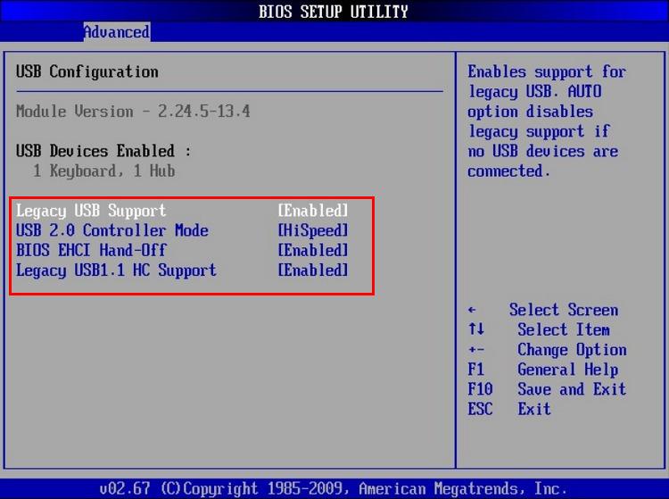 USB-контроллеры в БИОС фото 2