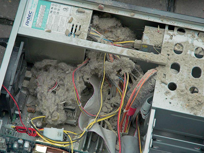 Очищаем системный блок от пыли