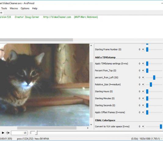 VideoCleaner – инструмент для улучшения видео низкого качества