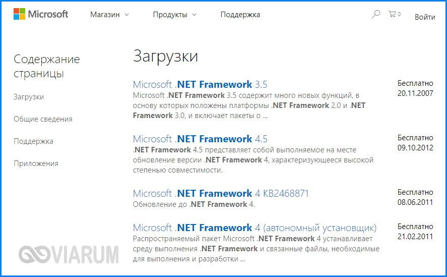 Обновление Net Framework