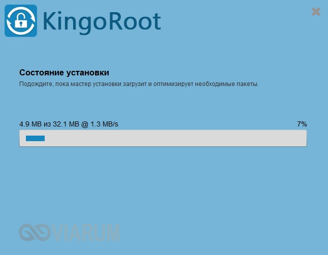 Установка Kingo Android Root - шаг 2