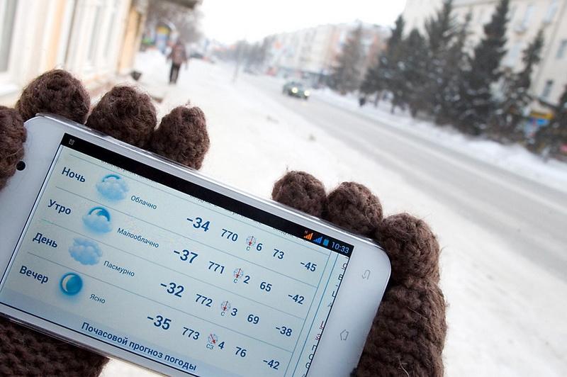 Низкая температура влияет на разряд батареи телефона