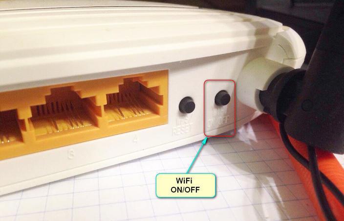 Кнопка включения/выключения Wi-Fi