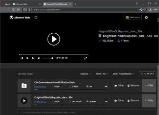 uTorrent Web – торрент-клиент с поддержкой потокового воспроизведения контента в браузере
