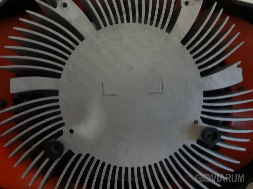 Радиатор после очистки